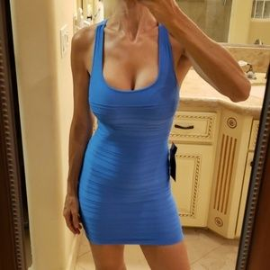 Bebe sky blue bodycon dress,  P/S